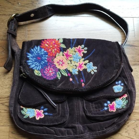Lucky Brand Handbags - Lucky Brand Brown Suede Purse